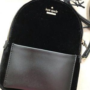 Kate Spade velvet merry mini backpack.